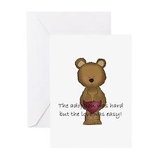 Adoption Bear Greeting Card