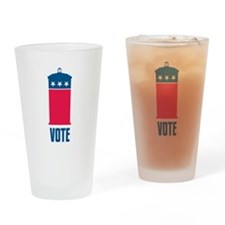 Time To Vote Drinking Glass