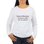 Event Horizon: Crushed Women's Long Sleeve T-Shirt
