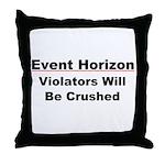Event Horizon: Crushed Throw Pillow