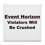 Event Horizon: Crushed Tile Coaster