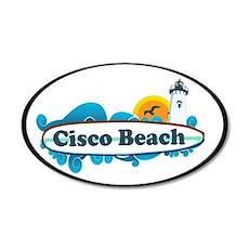 "Cisco Beach ""Surf"" Design. 22x14 Oval Wall Peel"