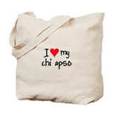 I LOVE MY Chi Apso Tote Bag
