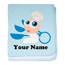 Personalized Baby Chef baby blanket