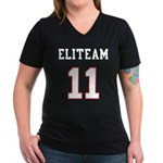 Team Women's V-Neck Dark T-Shirt