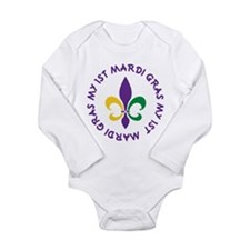 My 1st Mardi Gras Long Sleeve Infant Bodysuit