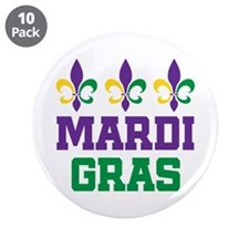"Mardi Gras Gift 3.5"" Button (10 pack)"