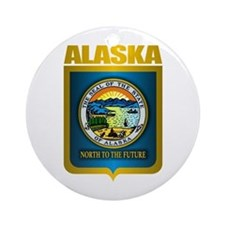 """Alaska Gold"" Ornament (Round)"