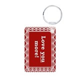 Love You More Aluminum Photo Keychain