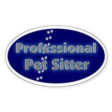 Professional Pet Sitter Oval Oval Decal