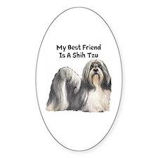 My Best Friend Is A Shih Tzu Decal