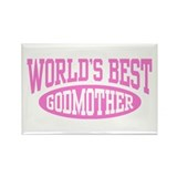World's Best Godmother Rectangle Magnet