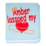 Amber Lassoed My Heart baby blanket