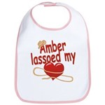 Amber Lassoed My Heart Bib