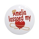 Amelia Lassoed My Heart Ornament (Round)
