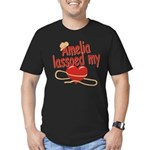 Amelia Lassoed My Heart Men's Fitted T-Shirt (dark