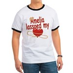 Amelia Lassoed My Heart Ringer T
