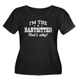 Funny Babysitter Women's Plus Size Scoop Neck Dark