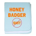 Honey Badger Don't Give a Shi baby blanket