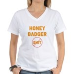 Honey Badger Don't Give a Shi Women's V-Neck T-Shi