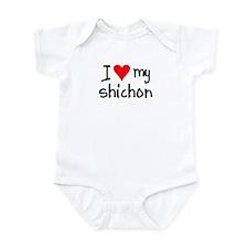 I LOVE MY Shichon Infant Bodysuit