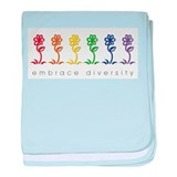 rainbow flower baby blanket