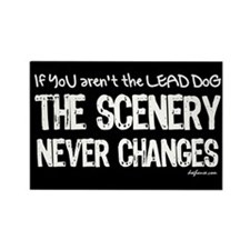 Lead Dog Rectangle Magnet