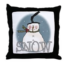 Primsical Snowman Throw Pillow