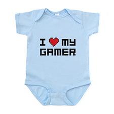 I Love My Gamer Infant Bodysuit