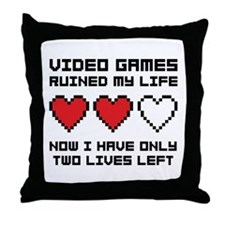Video Games Throw Pillow