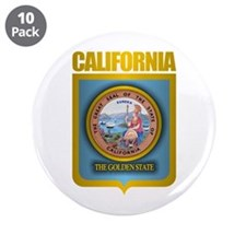 """California Gold"" 3.5"" Button (10 pack)"