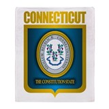 """Connecticut Gold"" Throw Blanket"