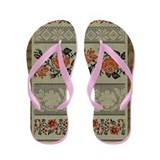 Traditional Ukrainian Embroid Flip Flops