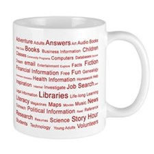 Red Tag Cloud Mug