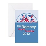 Romney SUPER TUESDAY Greeting Cards (Pk of 10)
