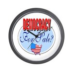 Democracy for sale Wall Clock
