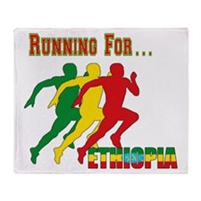 Ethiopia Running Throw Blanket