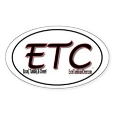 Excel, Tumble, & Cheer Oval Decal