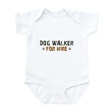 Dog Walker For Hire Infant Bodysuit