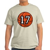 Basketball Player Number 17 T-Shirt