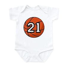 Basketball Player Number 21 Infant Bodysuit