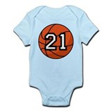 Basketball Player Number 21 Onesie