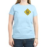 Butterfly Crossing Sign Women's Light T-Shirt