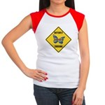 Butterfly Crossing Sign Women's Cap Sleeve T-Shirt