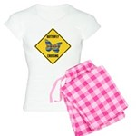 Butterfly Crossing Sign Women's Light Pajamas