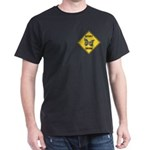Butterfly Crossing Sign Dark T-Shirt