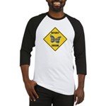 Butterfly Crossing Sign Baseball Jersey