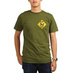 Butterfly Crossing Sign Organic Men's T-Shirt (dar