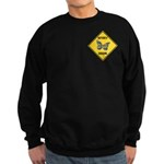 Butterfly Crossing Sign Sweatshirt (dark)