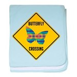 Butterfly Crossing Sign baby blanket